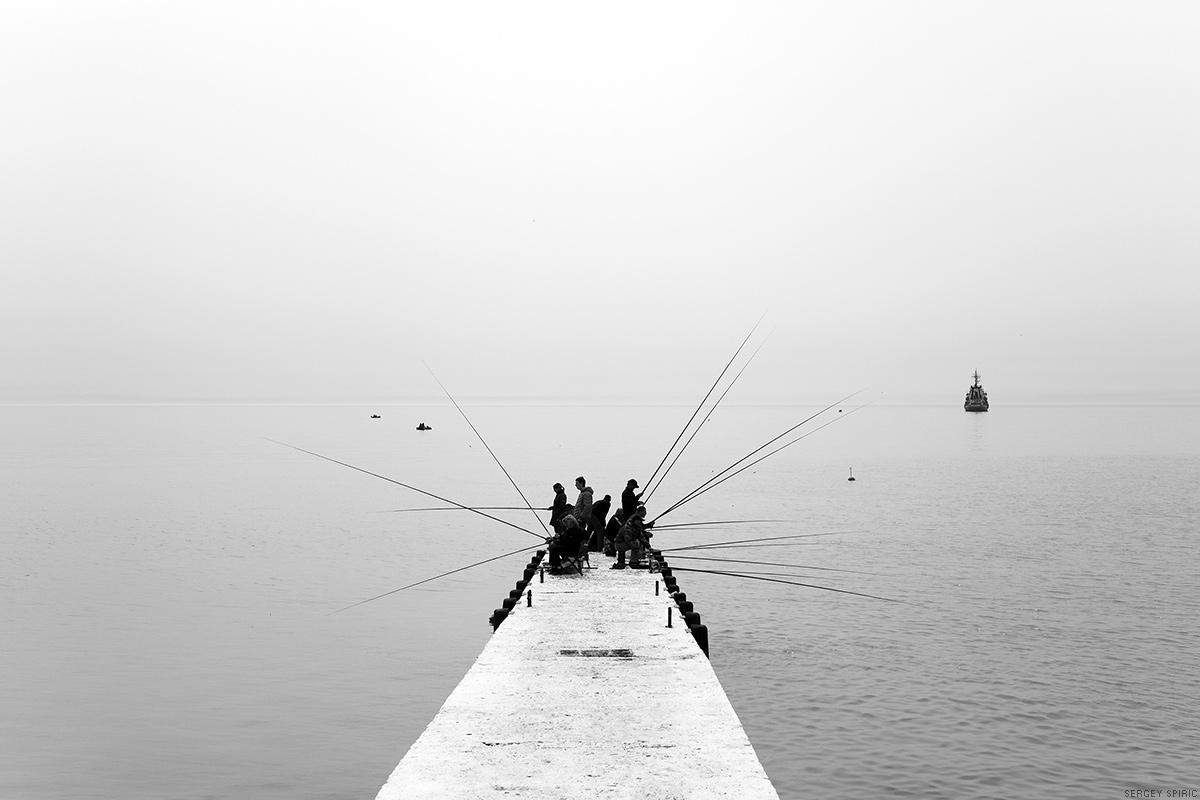 Fishmen in Sochi by sergeyspiric