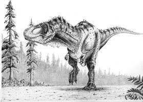 Tyrannosaurus rex by camiloandres