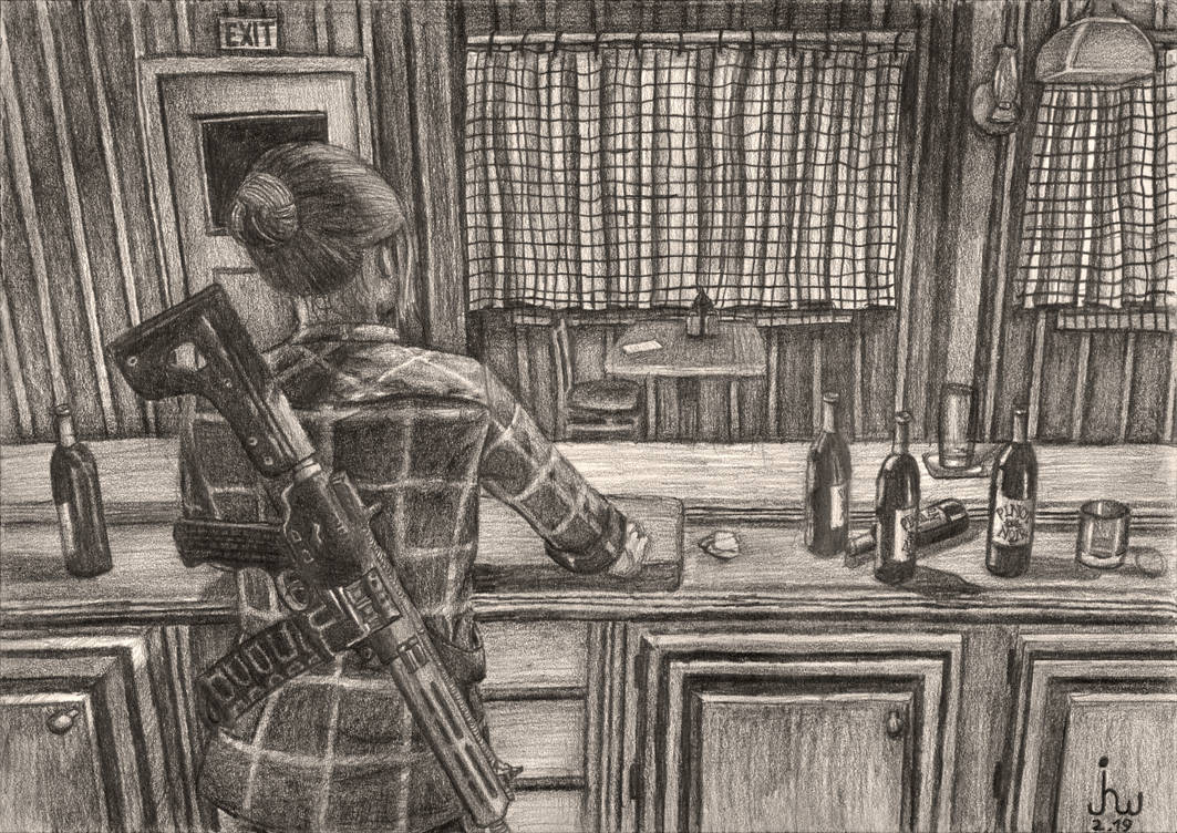 Mary May at the bar (Far Cry 5) by TheJulinator