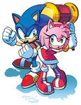Sonic and Amy by Tracy Yardley! (Colors edition)