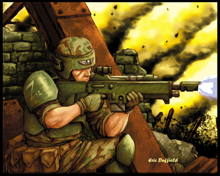 Imperial Guard Infantryman by Duffield03