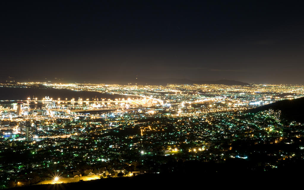: Cape Town Nights Wallpaper : by myINQI