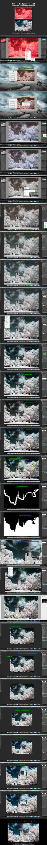 Infrared 720nm Post-processing Tutorial