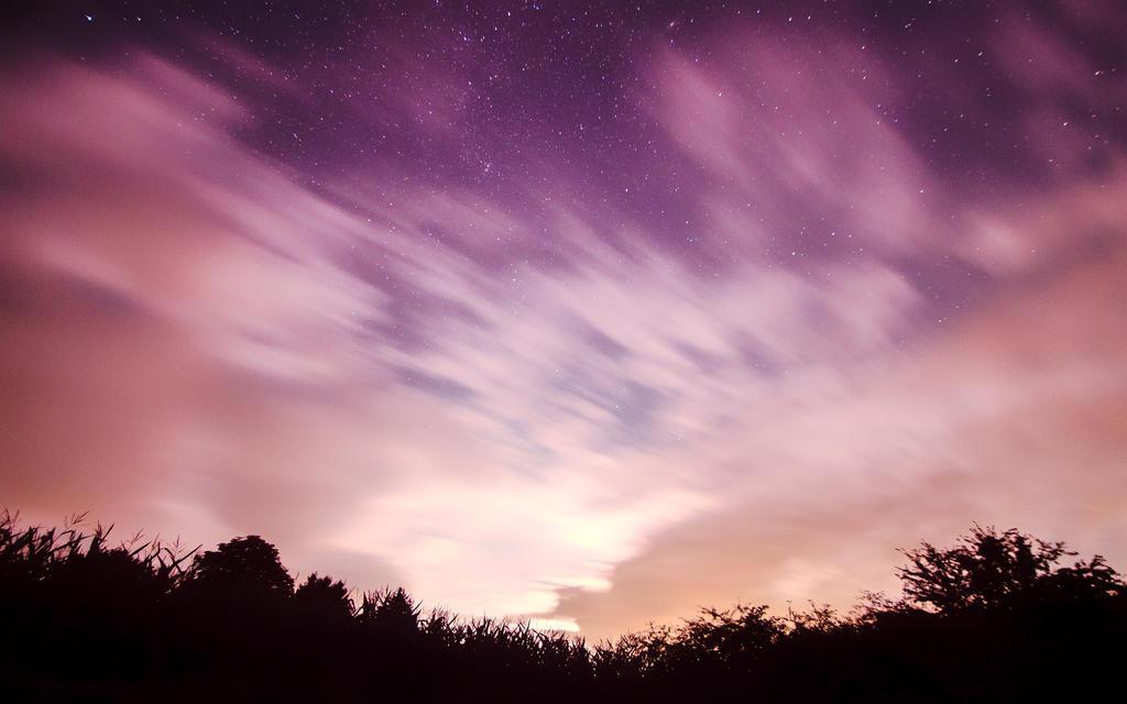 Purple Sky Wallpaper by myINQI