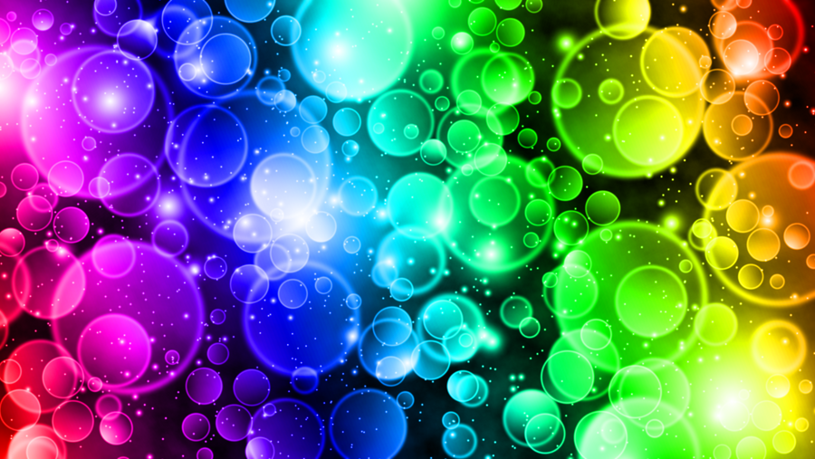 Wallpaper Circles Rainbow By Kukac67