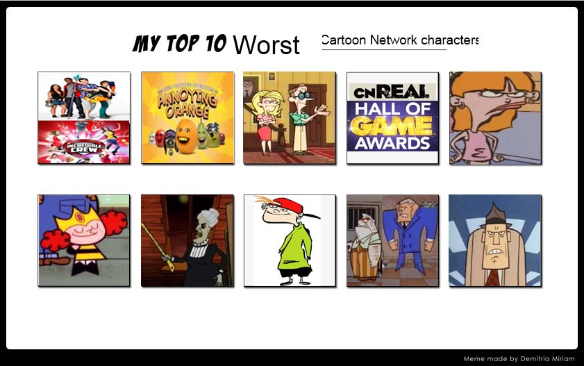 VH87's 10 Worst CN Characters by VoyagerHawk87
