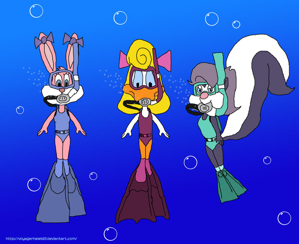 Babs, Shirley and Fifi (TTA): Scuba Diving by VoyagerHawk87