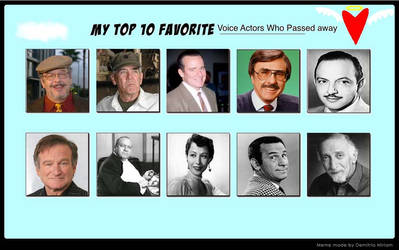 VH87's Top 10 VAs Who Passed Away by VoyagerHawk87