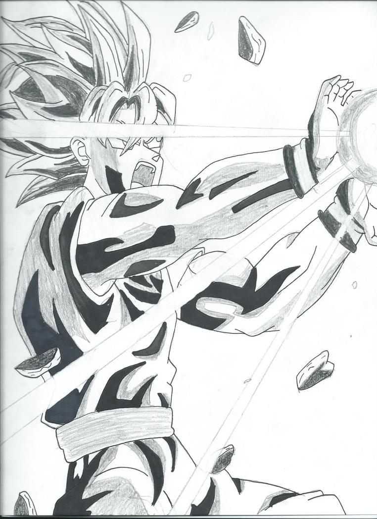 Goku Kamehameha by SuperSaiyanKev