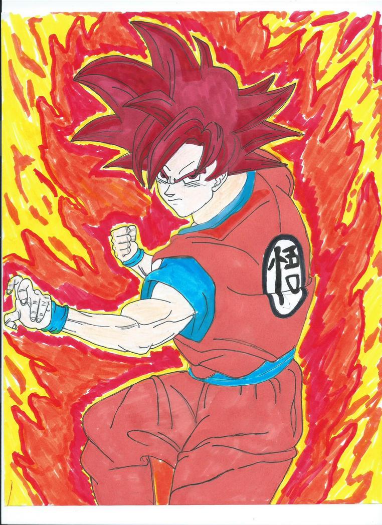 Super Saiyan God Goku by SuperSaiyanKev