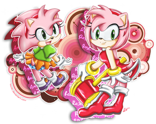 Amy Rose by leziith