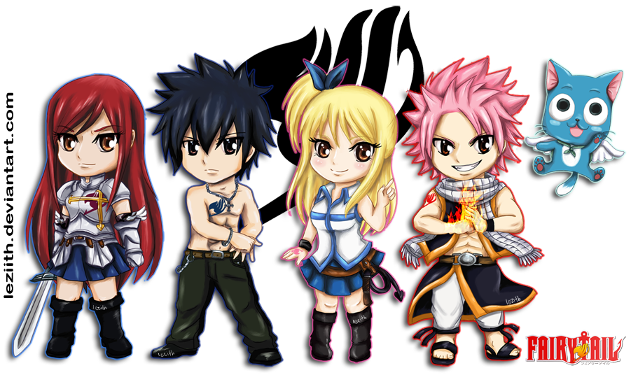 Chibi Fairy Tail by leziith