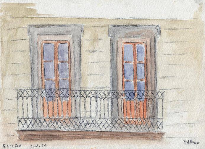 Spanish balcony by tamino on deviantart for Balcony in spanish