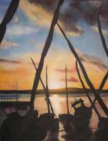 boats at dusk by tamino