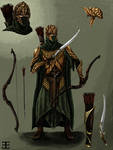Mirkwood Elf Warrior Concept Art- colored