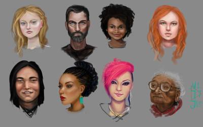 Faces Practice by dreamerofwords21