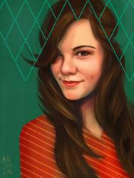 Self-portrait by dreamerofwords21