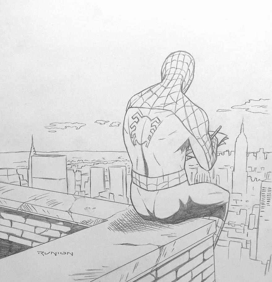Spider-man Drawing - pencils by arunion