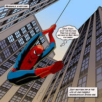 Spider-man Swings by arunion