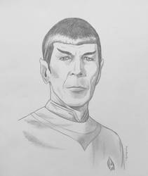 Commander Spock - pencil