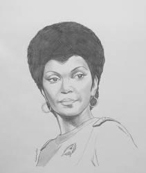 Lieutenant Commander Nyota Uhura - pencil
