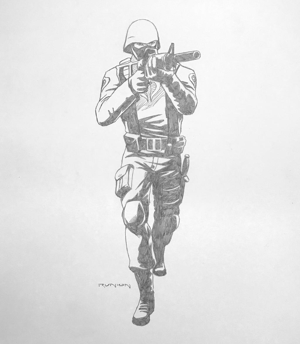 Cobra Trooper - pencils