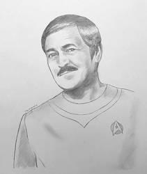 Commander Montgomery Scott - pencil