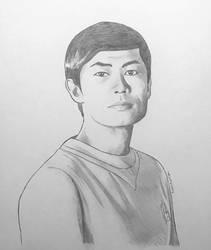 Lieutenant Commander Hikaru Sulu - pencil