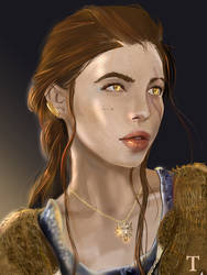 Witcher     a DnD character portrait