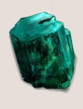 Uncut Emerald-Painted Render Practice