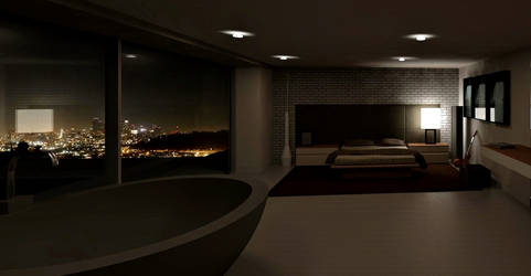 Franklin's Vinewood Hills Bedroom GTA V by ugGOchi
