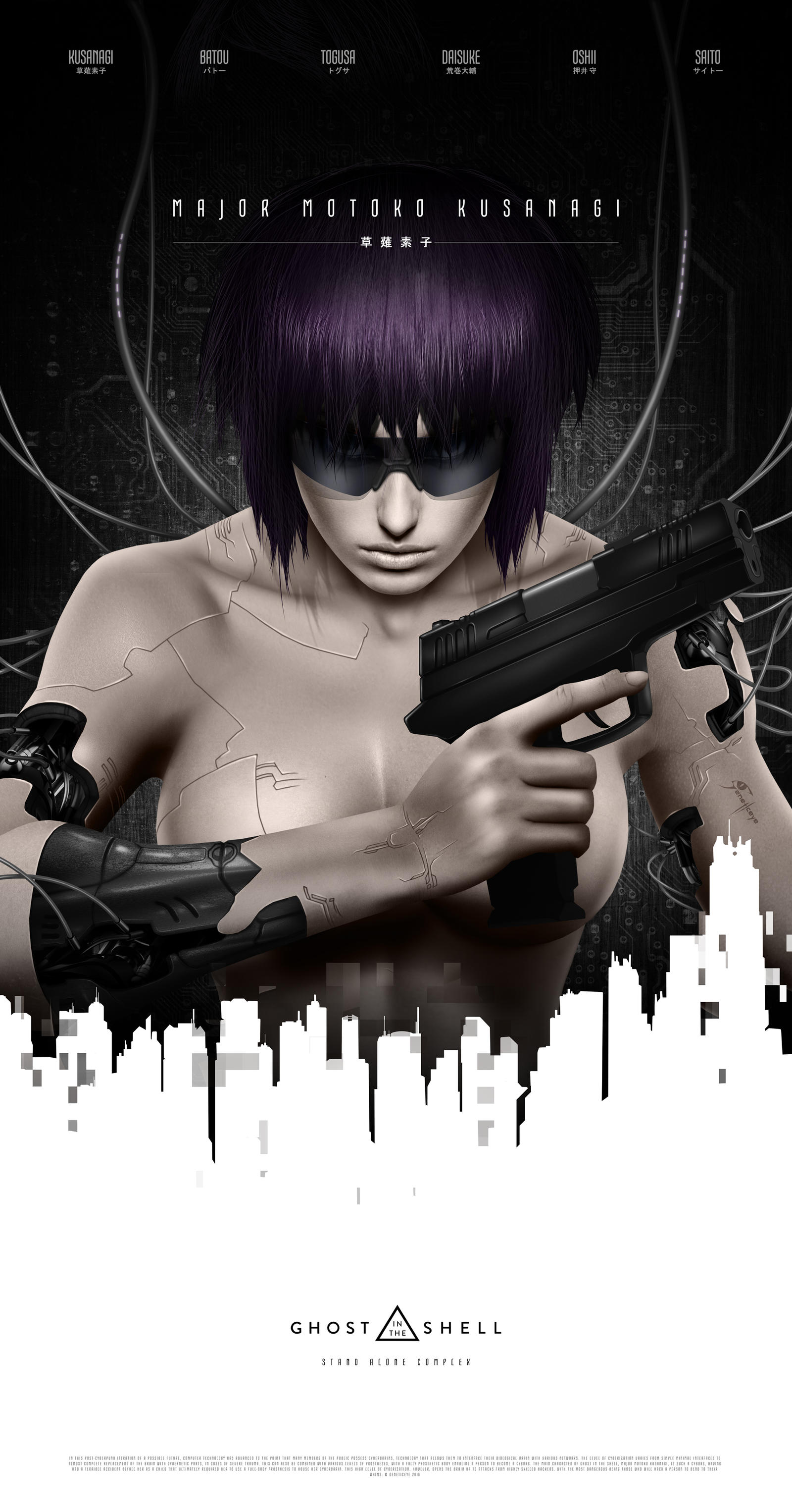 Ghost In The Shell Movie Poster By Geneticeye On Deviantart