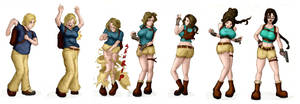 Lara Croft Colored TG Sequence by Billy-Gnosis