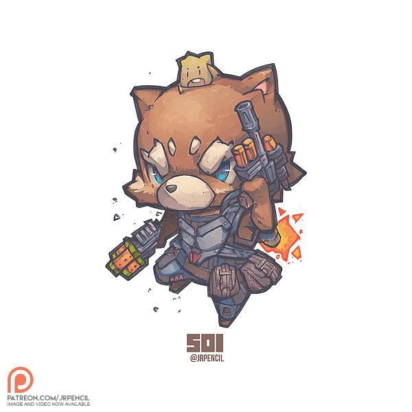 Star Lord And Rocket Raccoon By Timothygreenii On Deviantart: Rocket Raccoon N Baby Groot By Jrpencil On DeviantArt