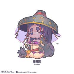 558 - Minamoto no Yorimitsu (Lancer) by Jrpencil