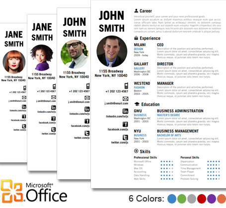 creative cv resume template by cvfolio - Resume Templates Microsoft Word 2010
