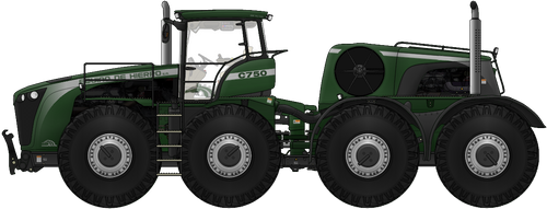 8x8 Articulated Tractor by AC710N87