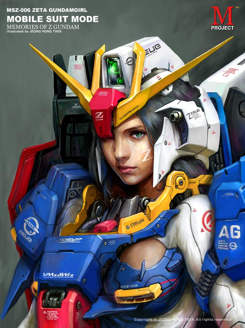 Z-Gundam Girl by porco2