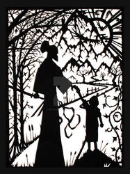 Lone Wolf and Cub - The Winter Blossom, Cut Paper