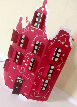 Little Dutch House - Hand-cut paper