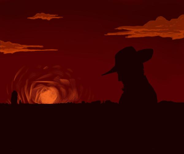 Cowboy Silhouette by SethWolfshorndl