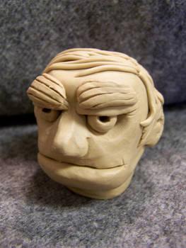 Cartoony head in plasticine