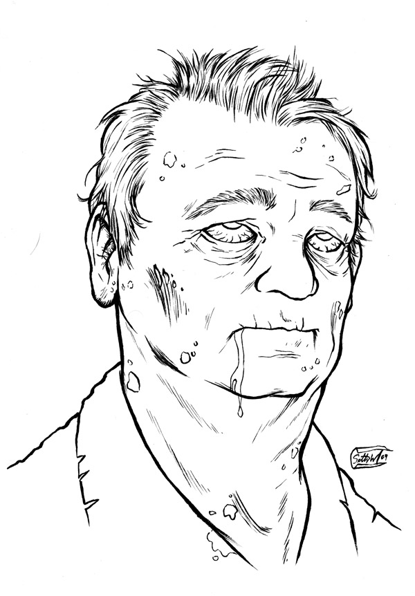 Zombie Bill Murray by SethWolfshorndl