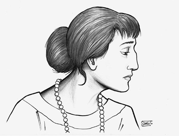 Anna Akhmatova by SethWolfshorndl