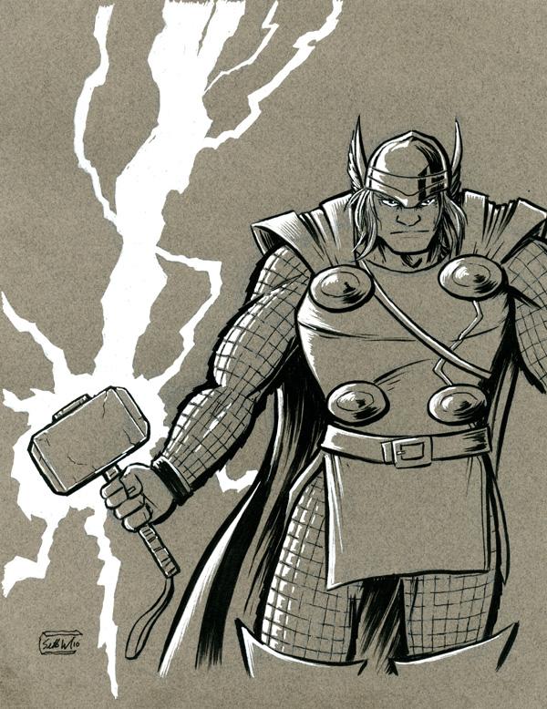 Thor, god of thunder by SethWolfshorndl