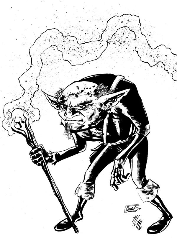 Goblin wizard by SethWolfshorndl
