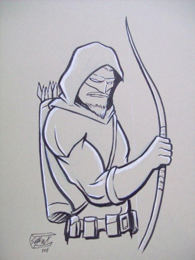 Green Arrow Con Sketch By SethWolfshorndl On DeviantArt