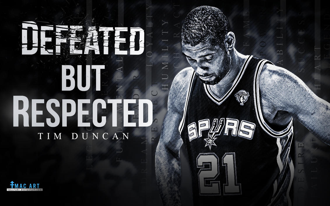 Tim duncan defeated wallpaper by tmaclabi on deviantart - Tim duncan iphone wallpaper ...