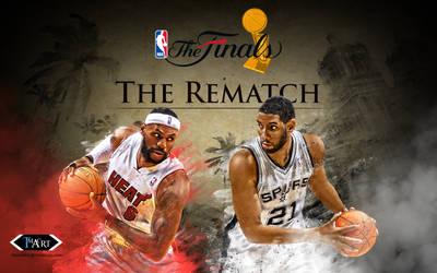 Miami vs. Spurs Finals Rematch Wallpaper by tmaclabi
