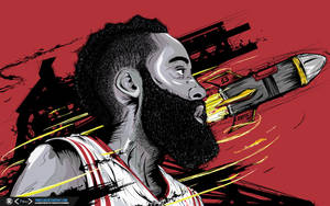 James Harden The Rocket Wallpaper by tmaclabi